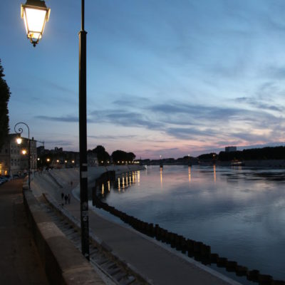 The river Rhone in Arles at Sunset