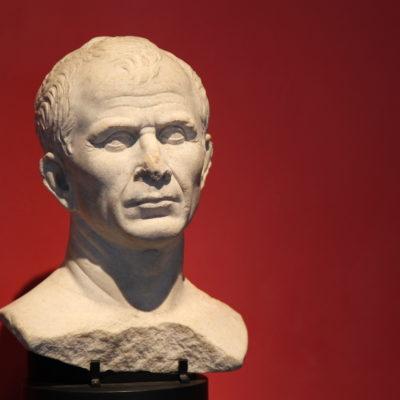 Caesar's bust in Le musée de l'Arles antique