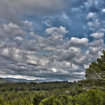 Provence cloudy sky